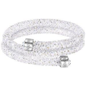 Crystaldust Bangle Double, White - Jewelry - Swarovski Online Shop
