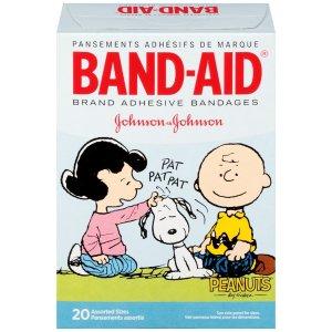 Band-Aid Adhesive Bandages,Charlie Brown,  20 Ct  by Band-Aid
