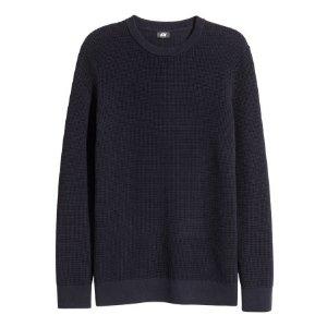 Textured-knit Cotton Sweater