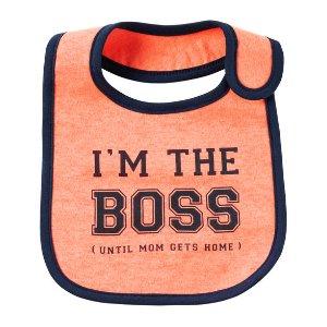 Baby Boy Neon I'm The Boss Teething Bib | Carters.com