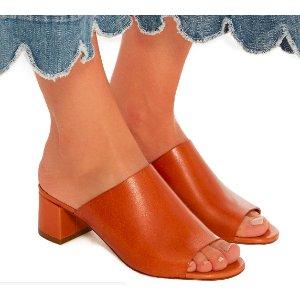 Mansur Gavriel Leather Open-Toe Mules