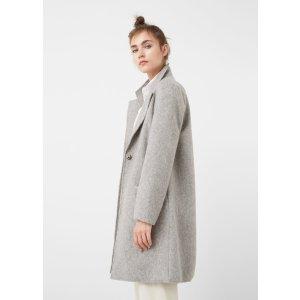 Textured wool-blend coat - Women | OUTLET USA