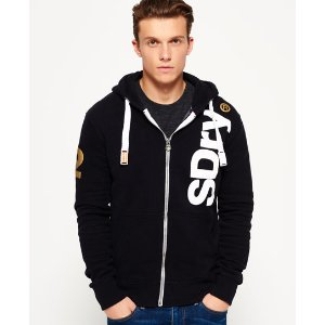 Superdry International Registered Zip Hoodie - Men's Hoodies