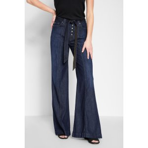 Wide Leg Lounge Pant in Deep Blue
