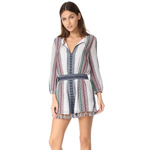 alice + olivia Nance Embroidered Long Sleeve Romper