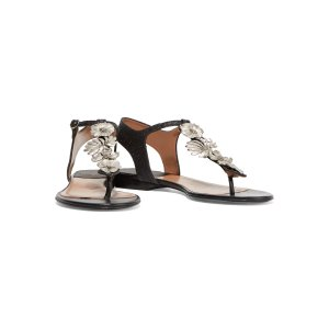 Jacinte embellished glittered leather sandals | Laurence Dacade | US | THE OUTNET