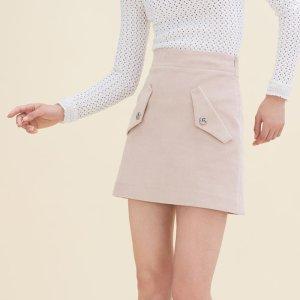 JINELLE Short velvet skirt