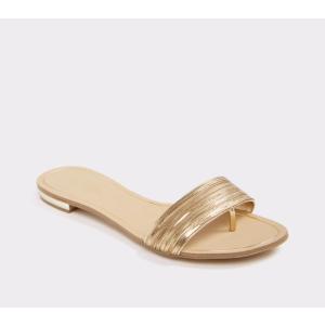 Soffia Gold Women's Slides | ALDO US