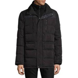 Calvin Klein Contrasting Panel Puffer Coat