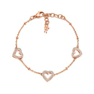 PLAYFUL HEARTS BRACELET Rose Gold Plated - 3B14T009RC