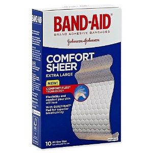 Johnson & Johnson® Band-Aid® 10-Count XL Sheer Strip Bandages - Bed Bath & Beyond