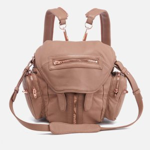 Alexander Wang Women's Mini Marti Latte Washed Leather Backpack - Latte - Free UK Delivery over £50