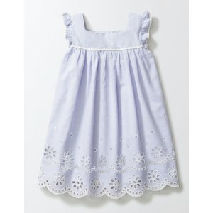 Broderie Detail Dress 33548 Day Dresses at Boden