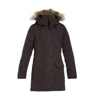 Trillium fur-trimmed down coat