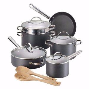 Anolon® 12-pc. Black Professional Hard-Anodized Nonstick Cookware Set
