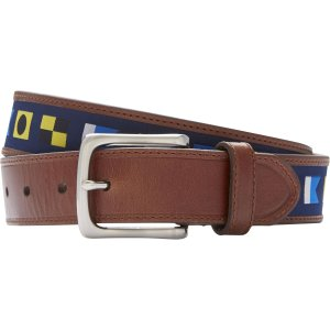 Jos. A. Bank Geometric Design Casual Belt - Big & Tall CLEARANCE - Accessories | Jos A Bank