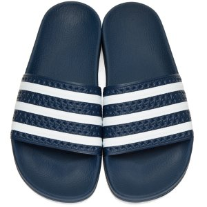 adidas Originals: Navy Adilette Slide Sandals