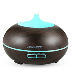 Aromatherapy Diffuser, ARCHEER Essential Oil Diffuser Wood Grain Ultrasonic Cool Mist Whisper-Quiet Humidifier Aroma Air Purifier with Auto Shut-off for Home/Office - 300ML