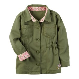Embroidered Button-Front Jacket