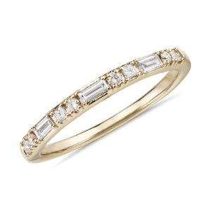 Colin Cowie Dot Dash Diamond Ring in 18k Yellow Gold (1/4 ct. tw.) | Blue Nile