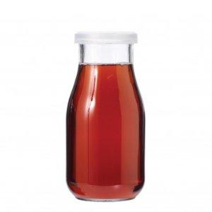Anchor Hocking 16oz Milk Bottle w/Plastic Lid, Set of 6