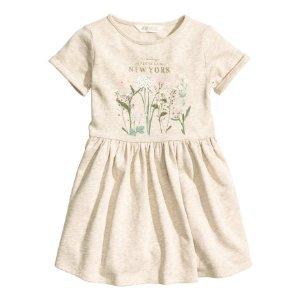 Sweatshirt Dress | Light beige/New York | Kids | H&M US