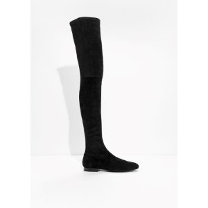 & Other Stories | Over The Knee Stay-Up Boots | Black