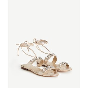 Irma Leather Lace Up Sandals | Ann Taylor