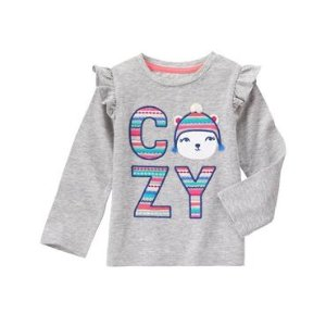 Toddler Girls Heather Grey Cozy Cub Tee by Gymboree