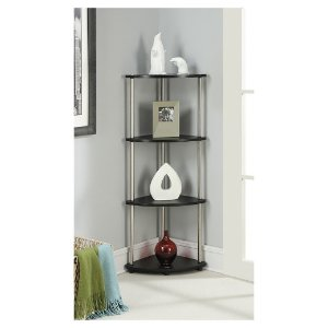 4 Tier Corner Shelf - Convenience Concepts : Target