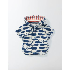 WHALES TOWELLING THROW-ON