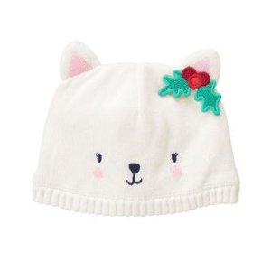 Baby Snow White Snow Kitty Beanie by Gymboree