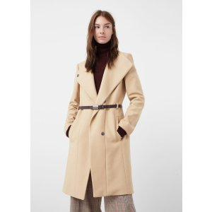 Belted wool coat - Women | OUTLET USA