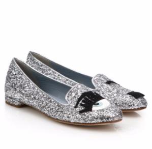 $119.99 (原价$285)Chiara Ferragni 亮片眨眼鞋