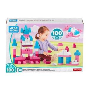 Mega Bloks First Builders 100 piece Imagination Building Set - Pink