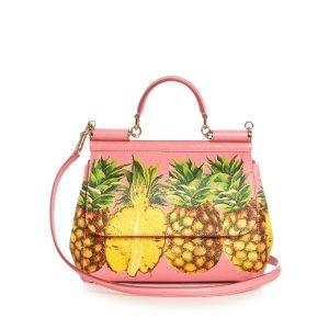 Sicily medium pineapple-print leather tote | Dolce & Gabbana