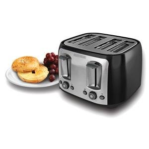 BLACK+DECKER 4格烤面包机,包邮
