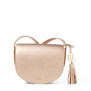 Leather Mini Caley Saddle Bag - All Accessories � Women - RalphLauren.com