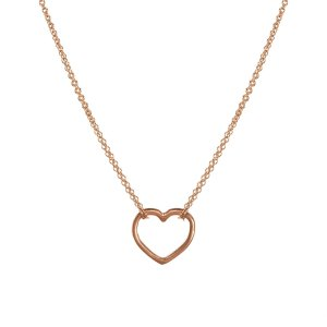 necklaces Amazing Daughter, Medium Open Heart Double Chain 16