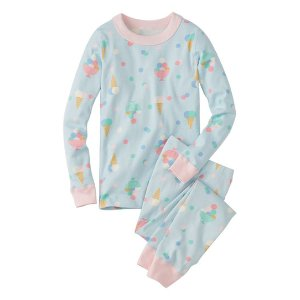 Hanna Andersson Light Blue Yes Please Organic Cotton Long John Pajama Set | zulily