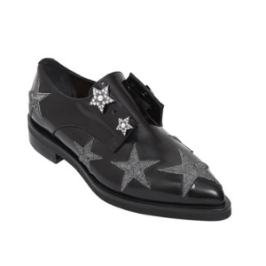 COLIAC - 20MM STARS PIERCING LEATHER SHOES - LACE-UP SHOES