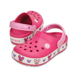 Candy Pink CrocsLights Mickey™ Clog | zulily