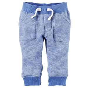 Baby Boy Pull-On French Terry Pants | Carters.com