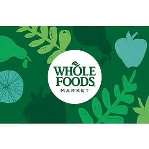 $90Whole Foods Market Gift Card
