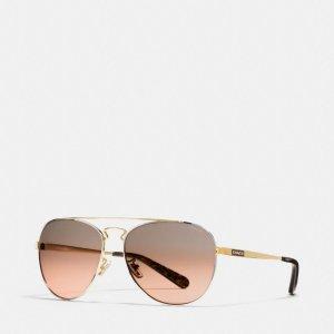 COACH: New York Pilot Sunglasses