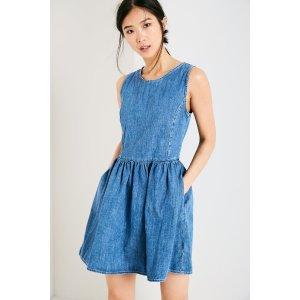 UPTON DENIM FIT & FLARE DRESS | JackWills US