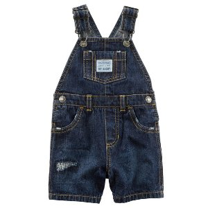 Baby Boy Distressed Denim Shortalls | Carters.com