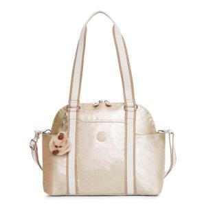 Dunzello Metallic Handbag - Sparkly Gold | Kipling