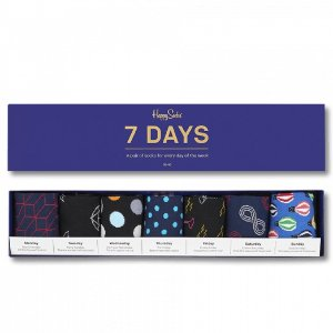 Blue & Black Socks Box Set: 7 days of socks | Happy Socks