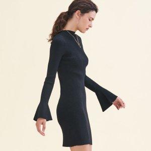 ROBINSON Lurex knit dress